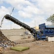 Stock Photo: Shredder machine on recycling yard