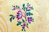Silk embroidered — Stock Photo