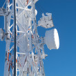 Frozen telecommunications antenna — Stock Photo