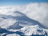 Bergets topp i snö — Stockfoto