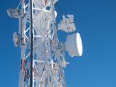 Frozen telecommunications antenna — Photo