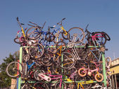 Recycled bicycles — Stock Photo