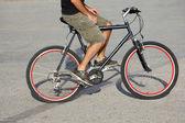 Urban biker — Stock Photo