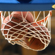 Basketball hoop with ball — Stockfoto