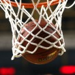 Basketball hoop with ball — Stock Photo #35004307