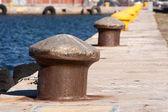 Dock in a harbor — Stock Photo