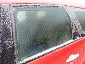 Araba arka camda buz — Stok fotoğraf