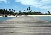 Mabul Island Jetty — Stock Photo