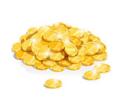 Golden coin heap — Stock Vector
