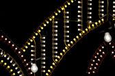 Lights in the night - village popular feria (Fair) — Stock fotografie