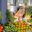 Spanish vegetable market - Stock Photo