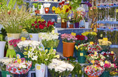Spanish flowers market — Stock Photo