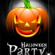 Stock Vector: Vector Halloween Party Background with Pumpkin.
