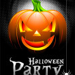 Vector Halloween Party Background with Pumpkin. — Stock Vector #12745146