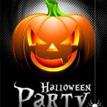 Vector Halloween Party Background with Pumpkin. — Stock Vector