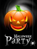 Vector Halloween Party Background with Pumpkin. — Stockvektor