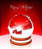 ベクトル休日図に対して雪の世界でクリスマスをテーマに. — ストックベクタ