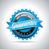 Vector Guarantee Labels Illustration with shiny styled design on a clear background. EPS 10. — Stock Photo