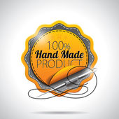 Vector Hand Made Product Labels Illustration with shiny styled design on a clear background. EPS 10. — Stock Photo