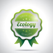 Vector Ecology Product Labels Illustration with shiny styled design on a clear background. EPS 10. — Stock Photo