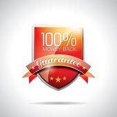 Vector ilustración de etiquetas de garantía con brillante estilo diseño — Vector de stock