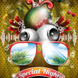 Royalty-Free Stock Imagem Vetorial: Vector Summer Beach Party Flyer Design with disco ball