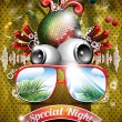 Royalty-Free Stock Imagen vectorial: Vector Summer Beach Party Flyer Design with disco ball