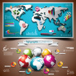 Vector design set of infographic elements. World map and information graphics. — Stock Vector #25255679