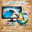 Vector technology design set of infographic elements. — Stock Vector #26056355