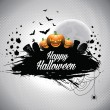 Vector illustration on a Halloween theme. — Stock Vector #33040721