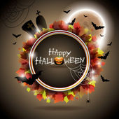Vector illustration on a Halloween theme. — Vettoriale Stock