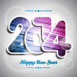 Vector Happy New Year 2014 colorful celebration background. — Stock Vector #34039109