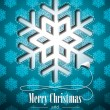 Vector Christmas illustration with snowflakes design on blue background. — 图库矢量图片
