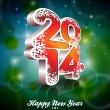Vector Happy New Year 2014 colorful celebration background. — Stock Vector