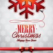 Vector Christmas illustration with snowflakes design on clear background — 图库矢量图片