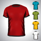 Vector T-Shirt design template in various colors. — Stock Vector