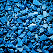 Blue crushed stone — Stock Photo
