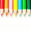 Saturated colors of colored pencils — Stock Photo