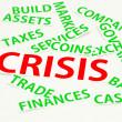 Stock Photo: Clippings about crisis