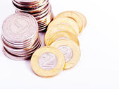 Currency in coins — Stockfoto