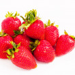 Stock Photo: Lots of juicy red strawberries