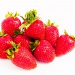 Lots of juicy red strawberries — Stock Photo