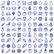 One hundred food icons  — Stock Vector