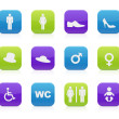Toilet icons — Stock Vector