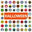 Halloween icon set — Stock Vector #34498737