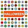 Halloween icon set — Stockvectorbeeld