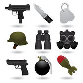 Army icons — Stock Vector