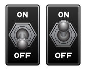 Toggle switch vector — Stock Vector
