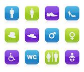 厕所图标 — 图库矢量图片