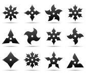 Ninja stars — Stock Vector